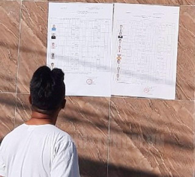 Cử tri xã Phú Xuân huyện Nhà Bè xem danh sách chính thức các ứng viên.