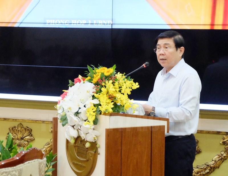 Chủ tịch UBND TPHCM Nguyễn Thành Phong phát biểu khai mạc toạ đàm