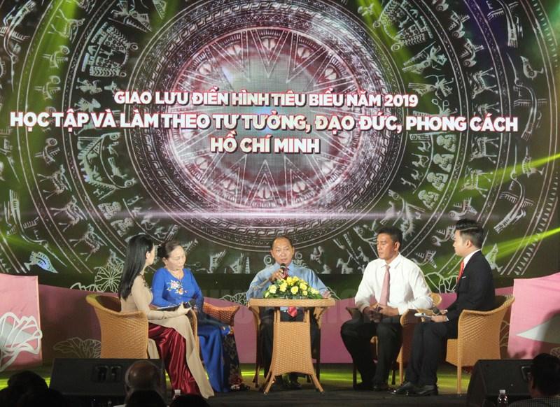 Các đại biểu chia sẻ về việc học tập và làm theo tư tưởng, đạo đức, phong cách Hồ Chí Minh.