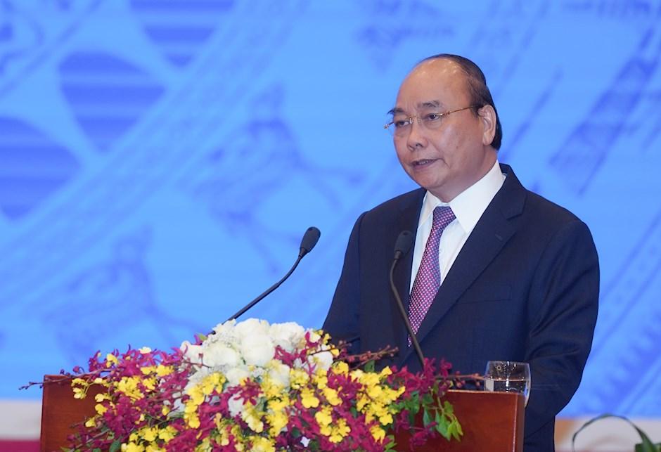 Thủ tướng Chính phủ Nguyễn Xuân Phúc phát biểu khai mạc hội nghị. Ảnh: VGP