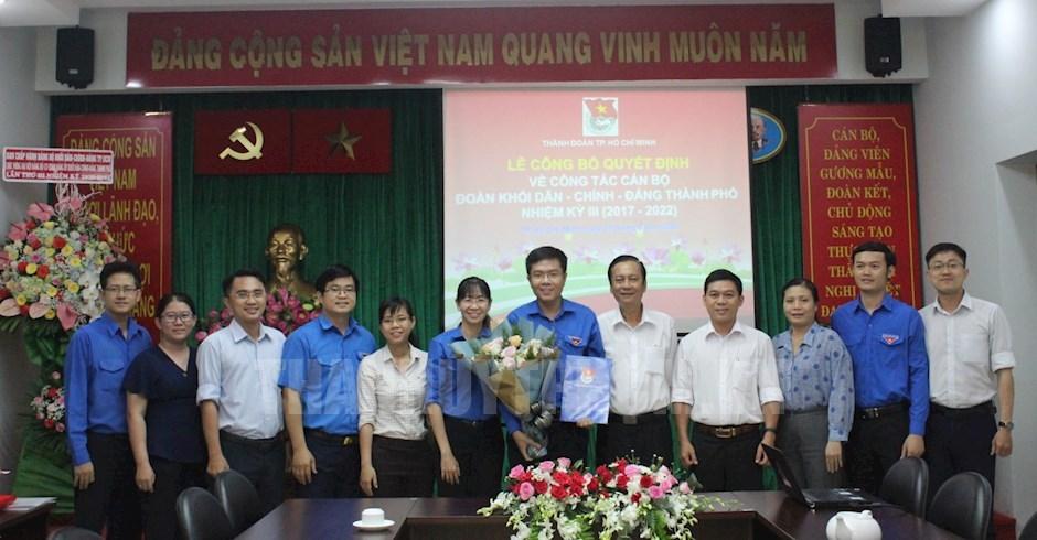 Chúc mừng đồng chí Nguyễn Đăng Khoa giữ chức Phó Bí thư Đoàn Khối Dân - Chính - Đảng TPHCM khóa III, nhiệm kỳ 2017 – 2022