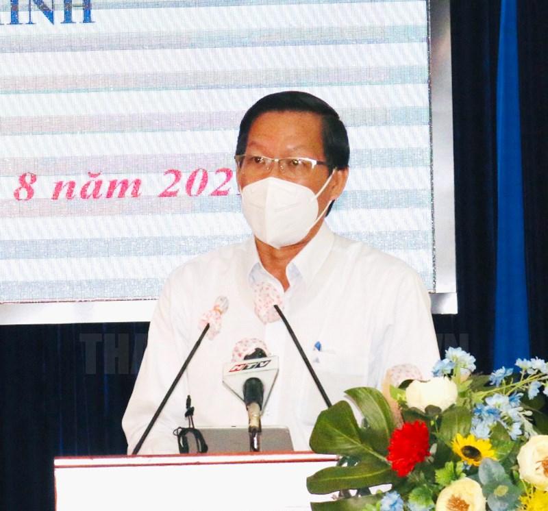 Phó Bí thư Thường trực Thành ủy TPHCM Phan Văn Mãi phát biểu tại buổi lễ.