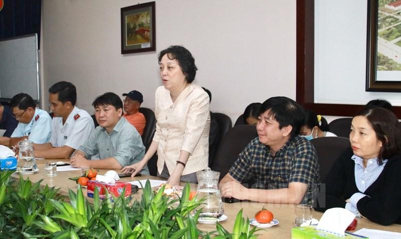 Trưởng Ban An toàn Thực phẩm TPHCM Phạm Khánh Phong Lan phát biểu tại buổi làm việc.