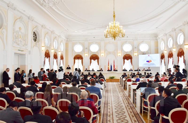 Toàn cảnh Lễ kỷ niệm 95 năm Ngày Bác Hồ lần đầu đến Petrograd.