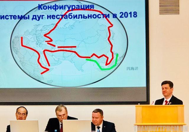 Viện trưởng Viện Hồ Chí Minh tại Saint Petersburg- GS Vladimir Kolotov phát biểu tại lễ kỷ niệm