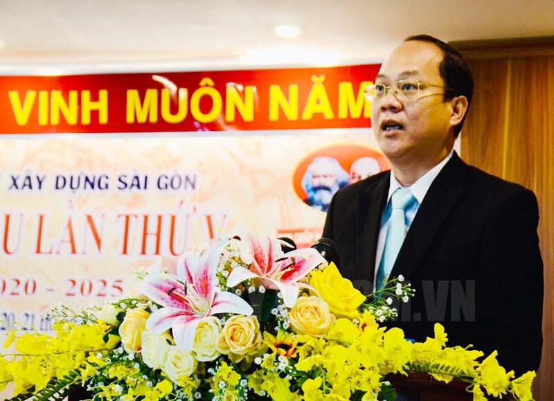 Trưởng Ban Tổ chức Thành ủy TP Nguyễn Hồ Hải phát biểu chỉ đạo tại Đại hội