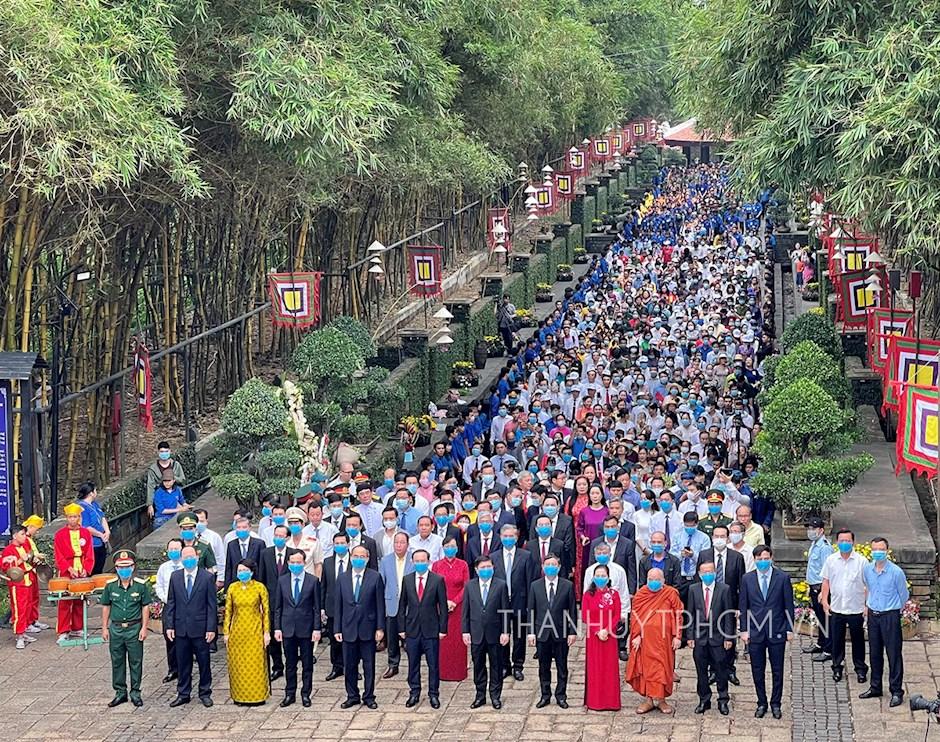Đoàn đại biểu tham dự Giỗ Tổ Hùng Vương năm Tân Sửu 2021