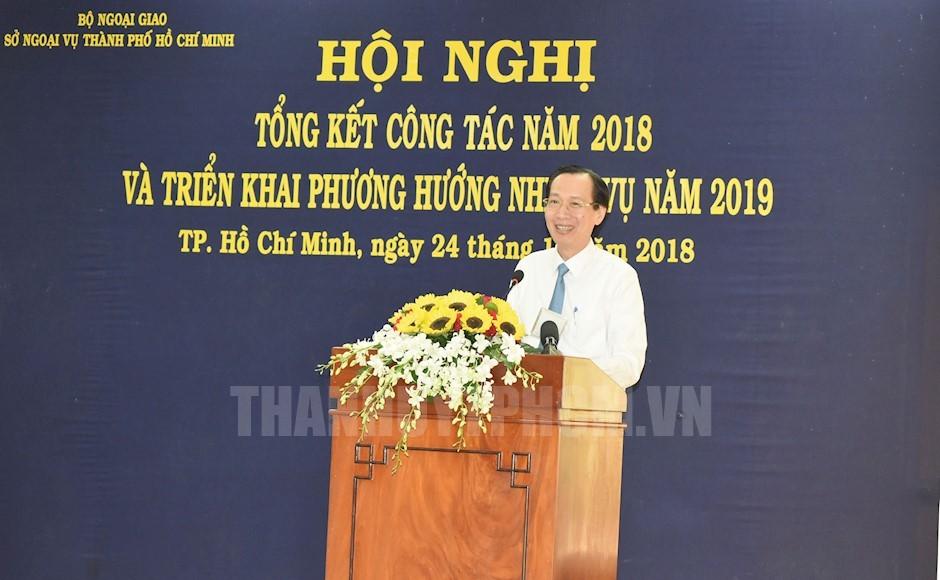 Phó Chủ tịch Thường trực UBND TPHCM Lê Thanh Liêm phát biểu chỉ đạo hội nghị
