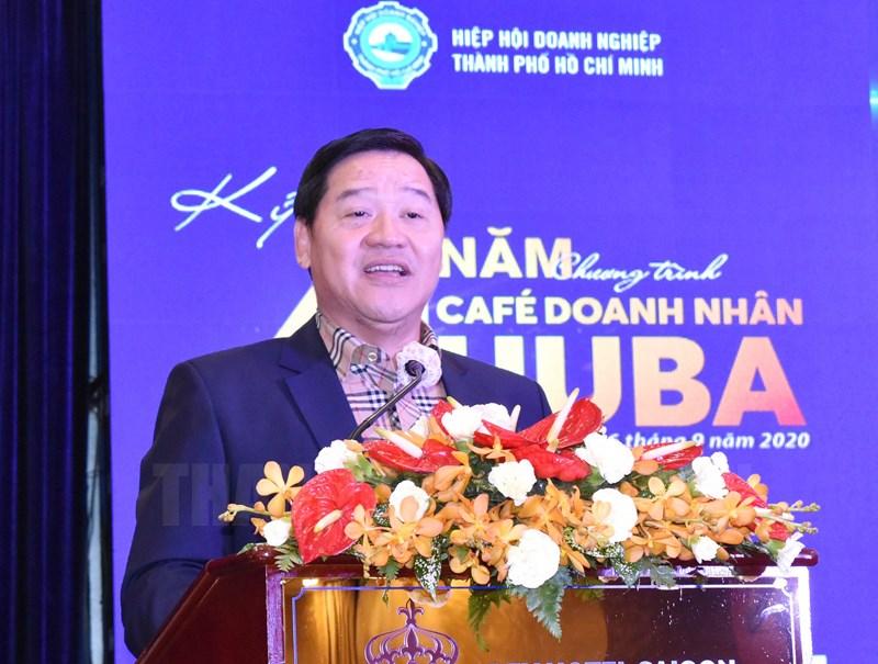 Chủ tịch Hiệp hội Doanh nghiệp TPHCM Chu Tiến Dũng phát biểu tại chương trình.