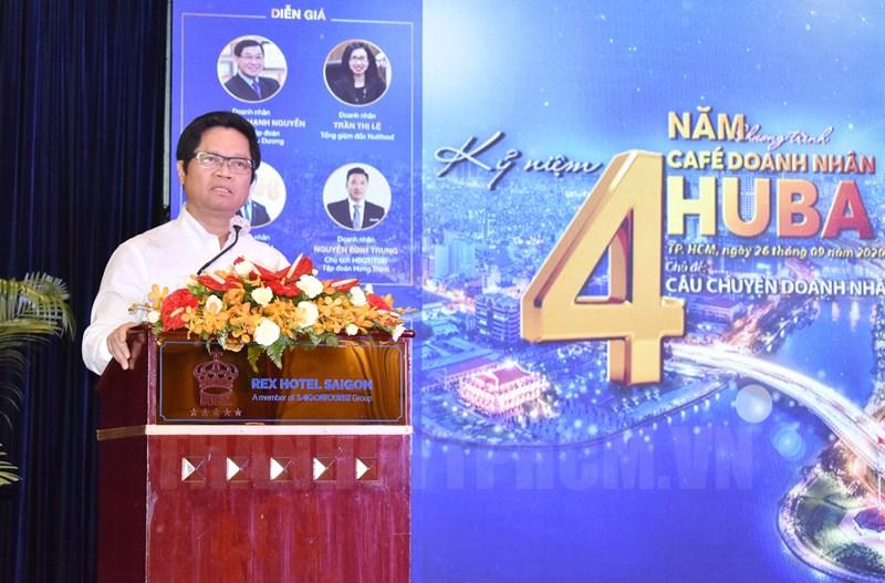 Chủ tịch Phòng Thương mại và Công nghiệp Việt Nam Vũ Tiến Lộc phát biểu tại chương trình.